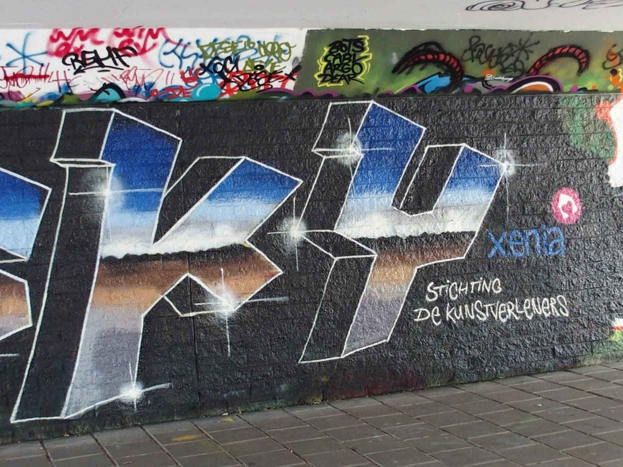 Graffiti-Art – Graffiti-kunstenaar 'Papatio'
