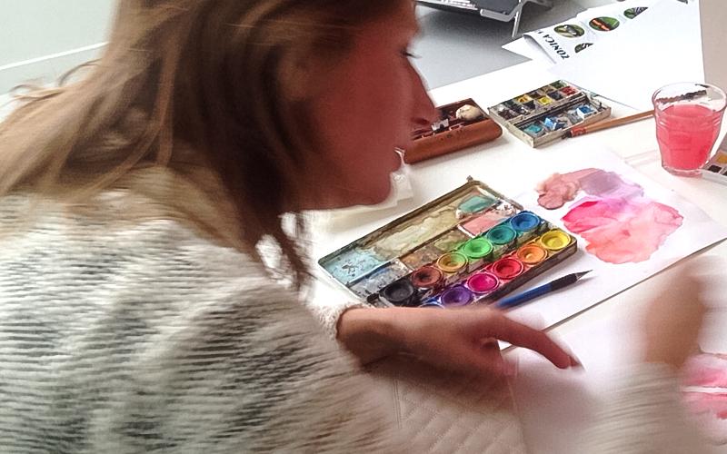 Tekenen en aquarelleren – kunstenaar Michelle Dujardin